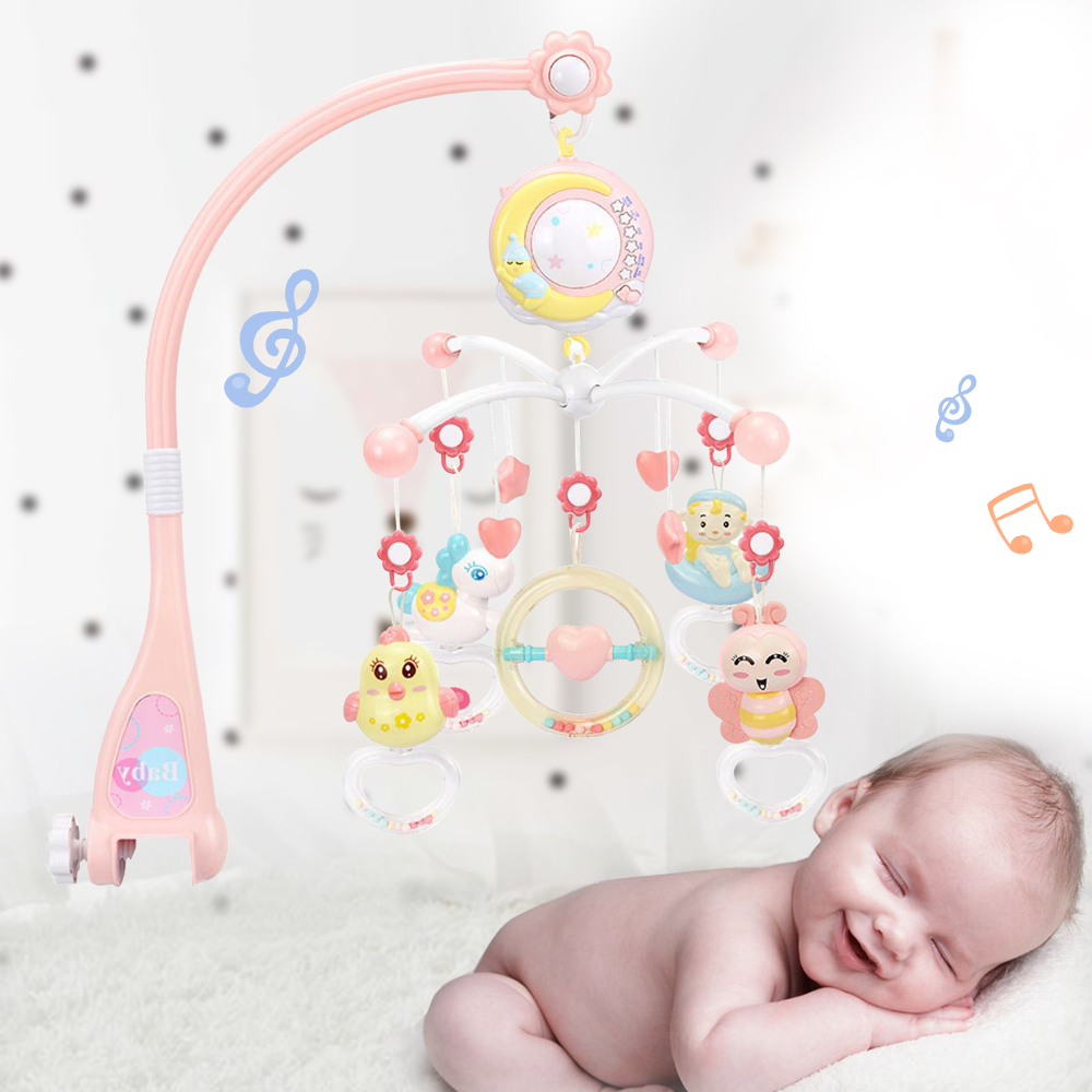 New Baby Animal Toys Stroller Accessories Hanging Plush Educational Toy Doll Trolley Bells Rattles Carriage Multifunctional Firm In Structure Activity & Gear Strollers Accessories