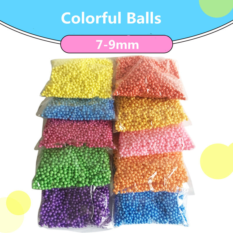 7-9mm 2000pcs Pillow/Sofa Filler Colors Decorate Polystyrene Styrofoam Filler Balls Plastic Round Foam Mini Beads Ball