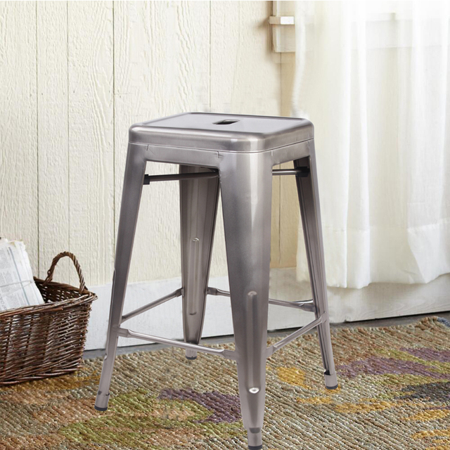 Tremendous Us 99 99 Gunmetal 24 Metal Stool Set Of 2 Counter Height Square Backless Ready To Use Extra Durable And Stackable In Bar Chairs From Furniture On Forskolin Free Trial Chair Design Images Forskolin Free Trialorg