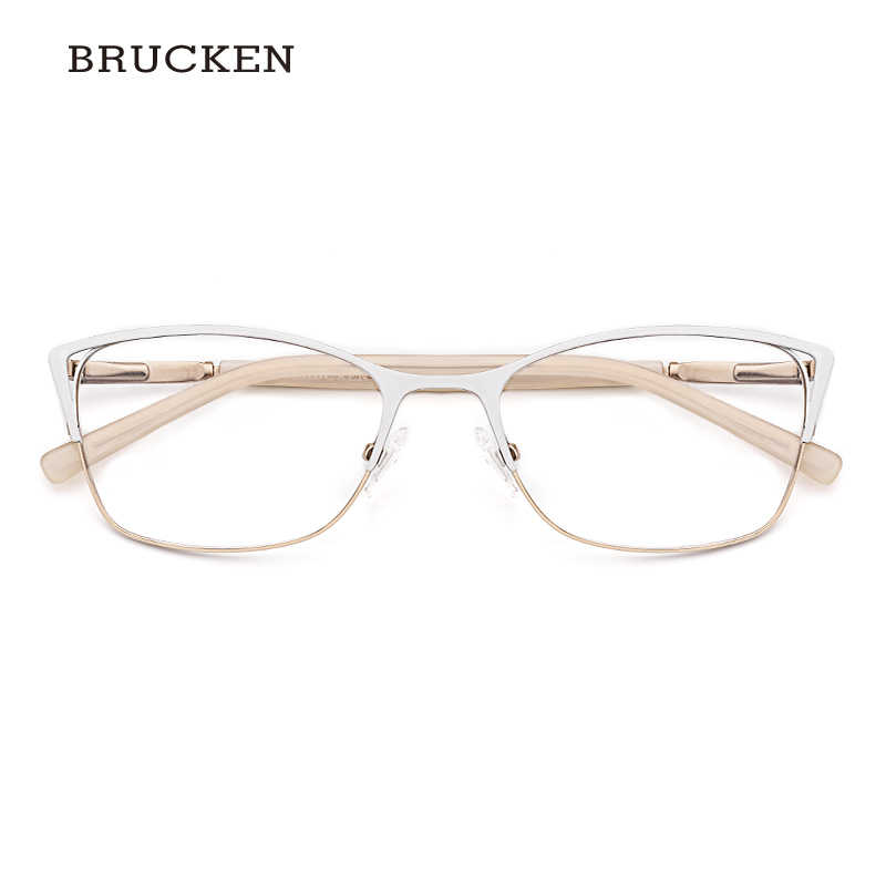 84eff12d39e Detail Feedback Questions about Metal Eyeglasses Frame Women Optical Glasses  White Color Cat Eye Eyeglasses Frame Women  TWM7554C4 on Aliexpress.com ...