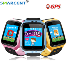 Smarcent Q528 Children GPS Smart Watch With Flashlight and Camera Baby Watch SOS Call Location Device Tracker for Kid Safe watch