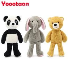 YOOOTAON kawaii animal stuffed dolls plush kids toys for children girls/boys brinquedos plush baby toy teddy bear/Elephant/panda