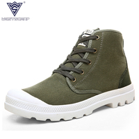 Spring Autumn Men Boots Men Casual Canvas Shoes Zapatillas Hombre Brand Male Boots Size 36 45