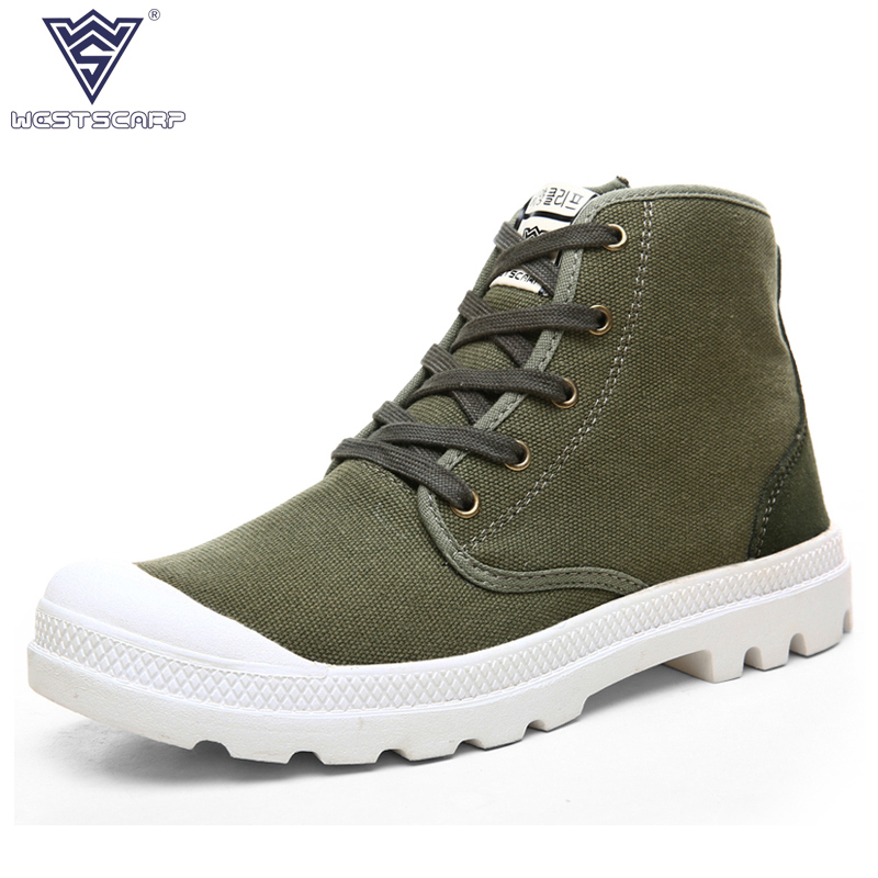 WEST SCARP Fashion Men Boots Spring Autumn Winter Shoes Male Canvas Shoes Men's Ankle Boots,High Top Hombre Sapatos xiaguocai spring autumn high top men shoes fashion canvas men s casual shoes lace up flat ankle boots for male