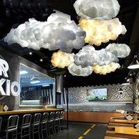 Современные светодио дный светодиодные хлопок облако открытый подвесные светильники светильник потолок висит затененные лампы для обувь