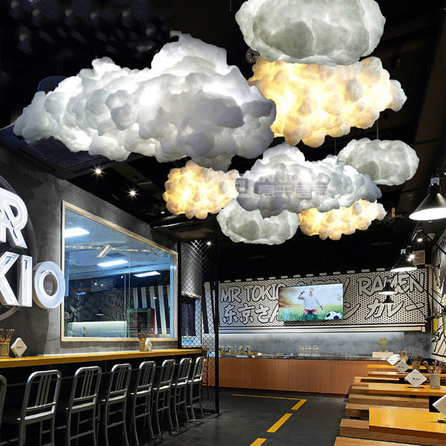 Modern Led Cotton Cloud Pendant Lights Fixture Ceiling Hanging Lamps Shades For Girls Children S Rooms Living
