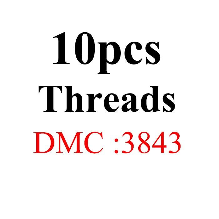 Snowlover, рукоделие, 10 шт./лот, 1,2 м, разные цвета, DMC3824-3848, вышивка крестиком, хлопковое шитье, моток пряжи, нить для вышивки - Цвет: 1.2mthread-DMC3843