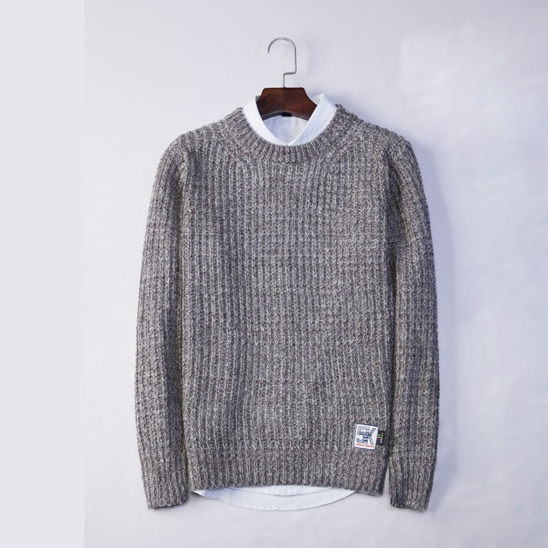 Autumn Mens Sweaters Slim Polyester Knitted Pullovers Brand Clothing Badge Design Knitting Mans Knitwear Clothes Sweatercoats