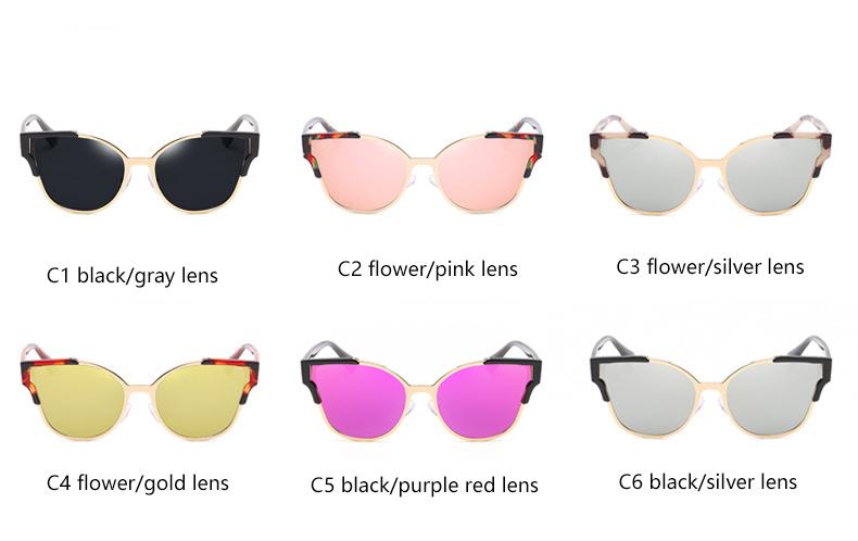 HTB1.pWPQVXXXXX.aXXXq6xXFXXXI - Women Cat Eye Luxury Fashion Designer Mirror Sunglasses
