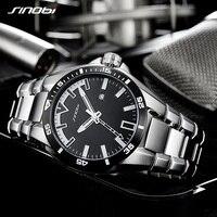 2018 SINOBI Men S Shock Business Watch Full Steel Male Fashoin Military Wrist Watches Men Luminous