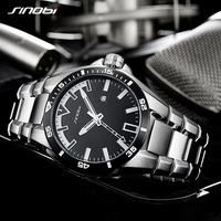 2018 SINOBI Men S Shock Business Watch Full Steel Male Fashoin Military Wrist Watches Men Luminous Hands Relogio Masculino saat