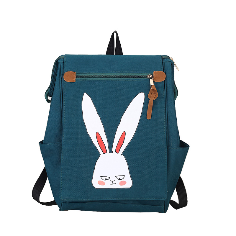 Small canvas backpack the fresh students bag, Japan and South Korea version of the cartoon printing tide female travel bag the impact of technology toward students performance