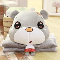 Multi purpose Kawaii Super Cute Bear Blanket Cartoon Toy Doll ,couple Bears Stuffed Toy Birthday Present