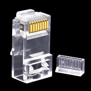 Image 5 - CNCOB двухкомпонентный сетевой разъем rj45, гигабитный Ethernet сетевой кабель, соединительный модульный разъем Cat6 utp с кристаллической головкой и золотым покрытием