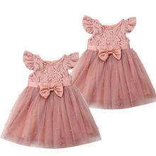 CANIS children's dresses Princess Girl Lace Tulle Dress Wedding Birthday Dress Pageant Children Summer Lace Tulle Dress 2-6 year canis 2 3 тл