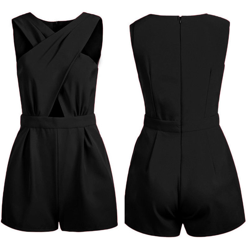 New Sexy Womens Celeb Backless Playsuit Jumpsuit Romper Shorts Summer Beach