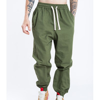 Man loose pants big size ankle length pants