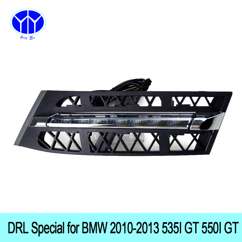 Car DRL Kit for BMW 535i GT 550i GT LED Daytime Running Light Bar super bright auto fog lamp daylight for car led drl light 12 qvvcev 2pcs new car led fog lamps 60w 9005 hb3 auto foglight drl headlight daytime running light lamp bulb pure white dc12v