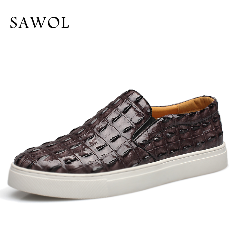 Sawol Men Casual Shoes Brand Men Shoes Men Sneakers PU Leather shoes Solid Spring Autumn Plus Big Size Flats Slip On 46 47 chilenxas 2017 new spring autumn soft leather breathable comfortable shoes flats men casual fashion solid slip on handmade