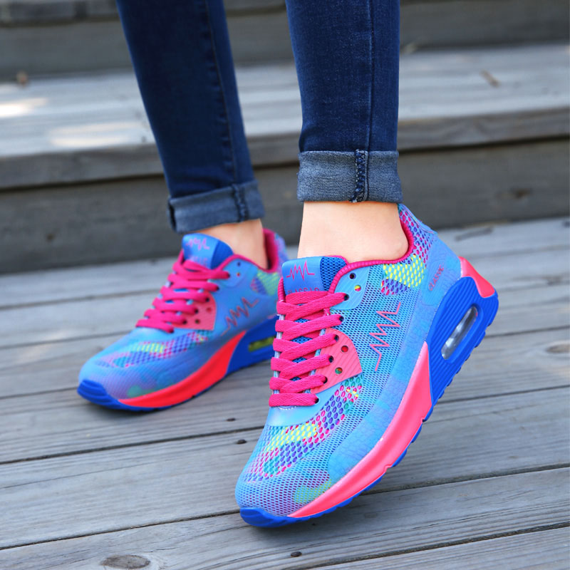 VTOTA Spring Fashion Women Casual Shoes Mesh Pink Sneakers Platform Wedges Sneakers Ladies Black Trainers Baskets Femme Trainers