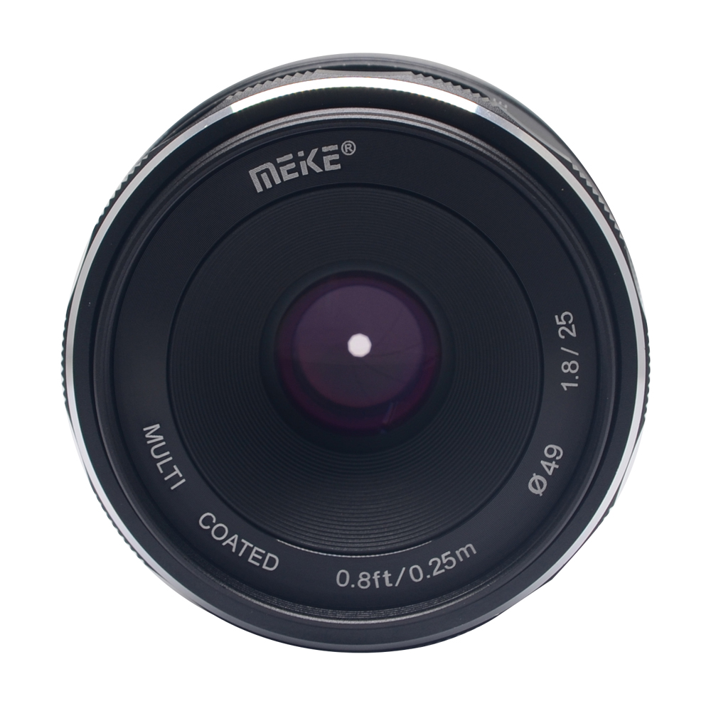 Mcoplus Meike 25mm f/1.8-16 Large Aperture Wide Angle Lens Manual Focus Lens for Sony E-mount Mirrorless Cameras with APS-C