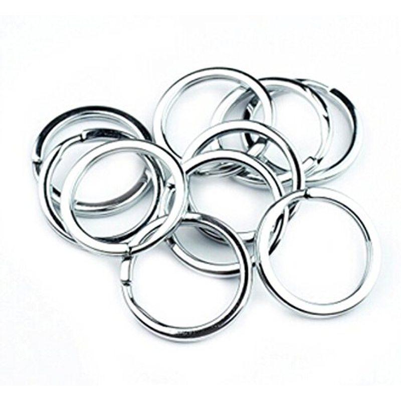 50Pcs/Pack Shiny Silver Metal Stainless Steel Key Holder Split Rings Keyring Keychain Keyfob Accessories