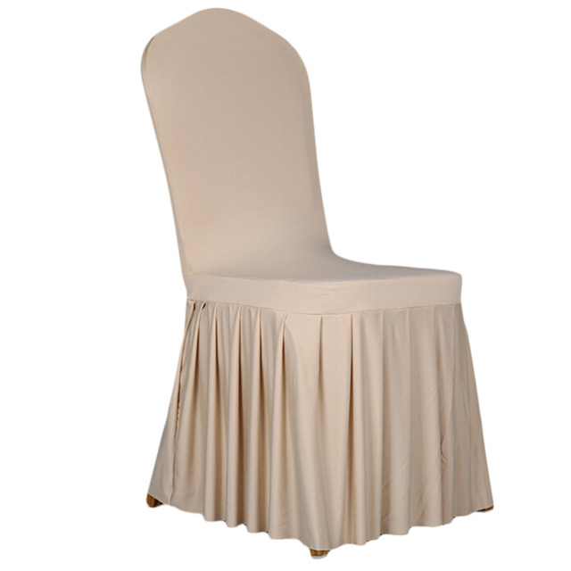 Beau Spandex Stretch Dining Chair Cover Restaurant Hotel Chair Coverings Wedding  Banquet Plain Chairs Covers Christmas Home Decors