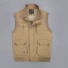 Brieuces new Spring and Autumn Mens Cotton Vest Military Multi Pocket Leisure  Photography Plus Size S-5XL