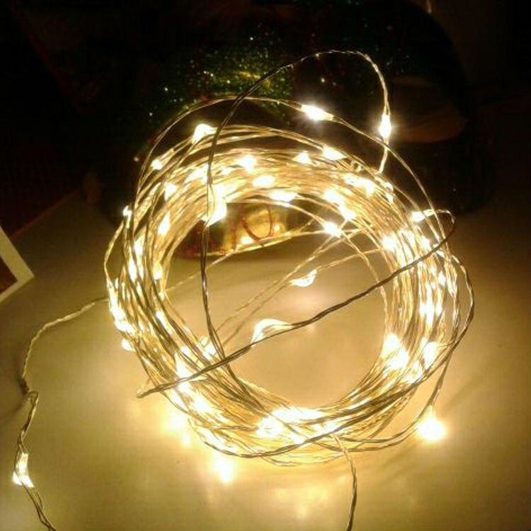 AA batteridrevne 33FT 10M 100 ledet julferie bryllupsfesten dekoration festi LED kobber wire string fairy lamper lamper