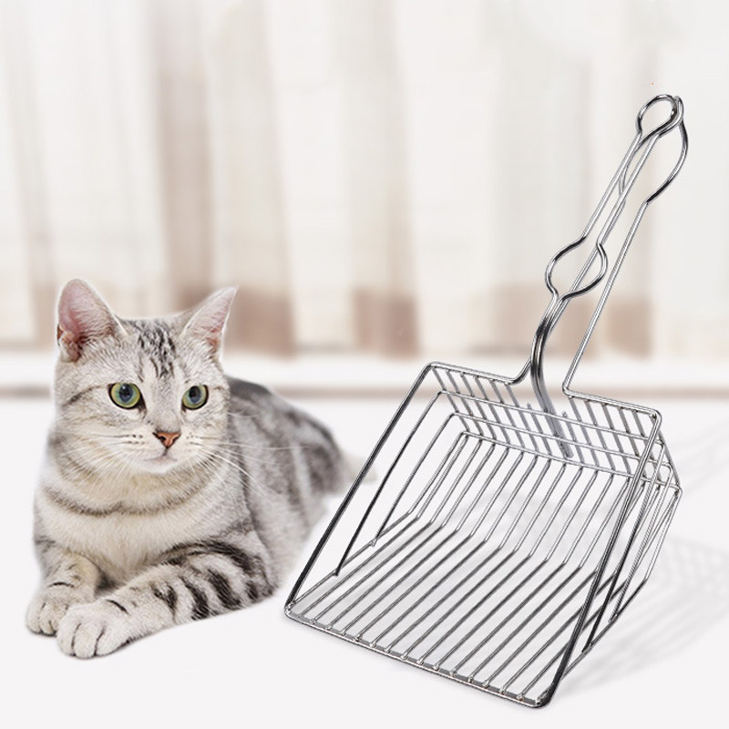 Newly Cats Litter Shovel Pet Cleaning Tool Metal Scoop Kitten Toilet Cleaning ScoopNewly Cats Litter Shovel Pet Cleaning Tool Metal Scoop Kitten Toilet Cleaning Scoop