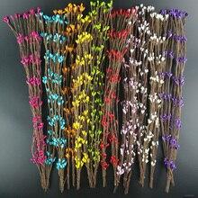 10 шт. Дешевые 40 см бутон искусственные ветви цветок железная проволока для украшения свадьбы DIY Скрапбукинг декоративный венок поддельные цветы