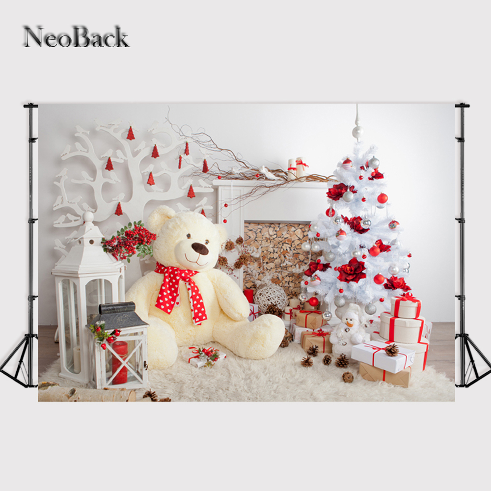 NeoBack 7X5ft Thin Wide Backdrop photography backgrounds vintage Christmas Decoration Family Party kinder Hintergrund P0707