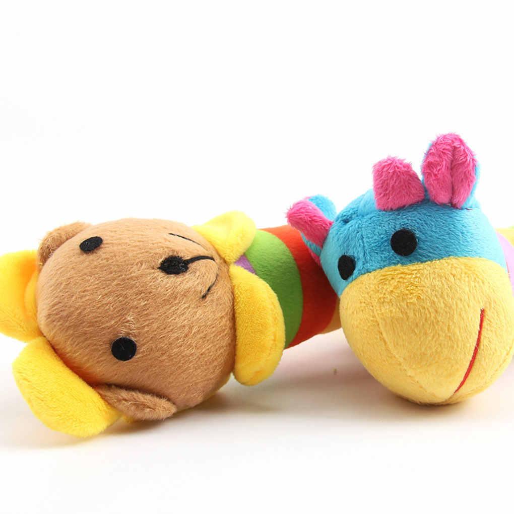 Плюшевый жираф, Лев панда пищащая игрушка для питомца жевательная игрушка для домашних животных звуковая игра кукла собака жевательные плюшевые PP палка