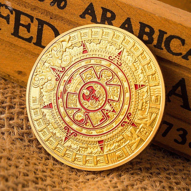Wohnkultur Münze Gold Silber Überzogene Maya Aztec Prophecy Kalender Gedenkmünze Kunst Sammlung Geschenk Haus & Garten