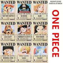 9 PCS / LOT ONE PIECE Wanted Julisteet Uusin Anime Julisteet koko 42x29 cm ONEPIECE Lelut