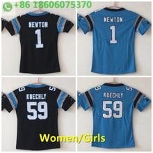 129bc344b4e 2018 Free shipping A+++ quality women 1 cam newton 59 Luke Kuechly Jersey  Carolina(China