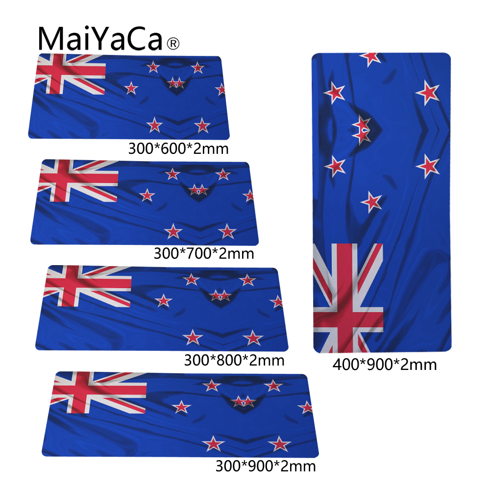 MaiYaCa Desktop Pad Optical Soft Wallpaper New Zealand Flag 300X700X2mm and 400X900X2mm New Arrivals Mouse Pads