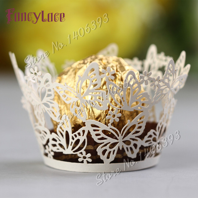 60pcs Fancy Lace Chocolate Wrappers For Birthday Gift Laser Cut