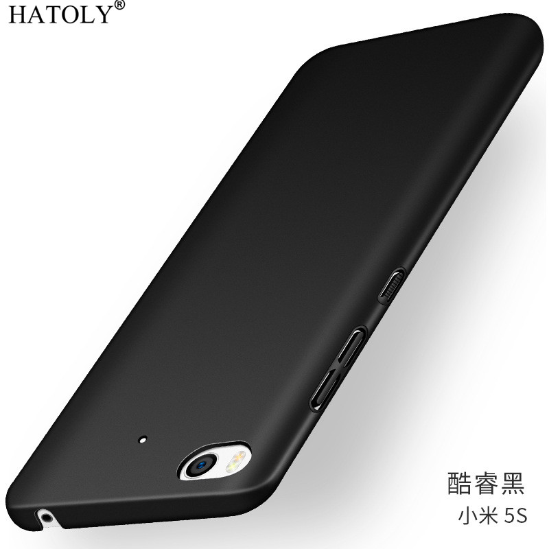 For Xiaomi Mi 5S Case Ultra thin Smooth Hard PC Back Cover For Funda Xiaomi Mi 5S Mi5S Protective Phone Case For Xiaomi Mi 5S in Fitted Cases from Cellphones Telecommunications