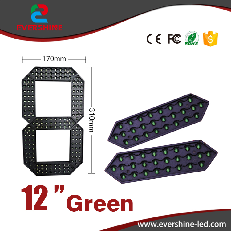 12 inch red yellow and white seven segment led display board outdoor LED digital number module 100 pcs ld 3361ag 3 digit 0 36 green 7 segment led display common cathode