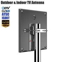 Outdoor TV Antenna For DVB T2 ATSC ISDBT Indoor TV Antenna With 10M Cable UHF Antenna Amplifier Indoor TV Antenna