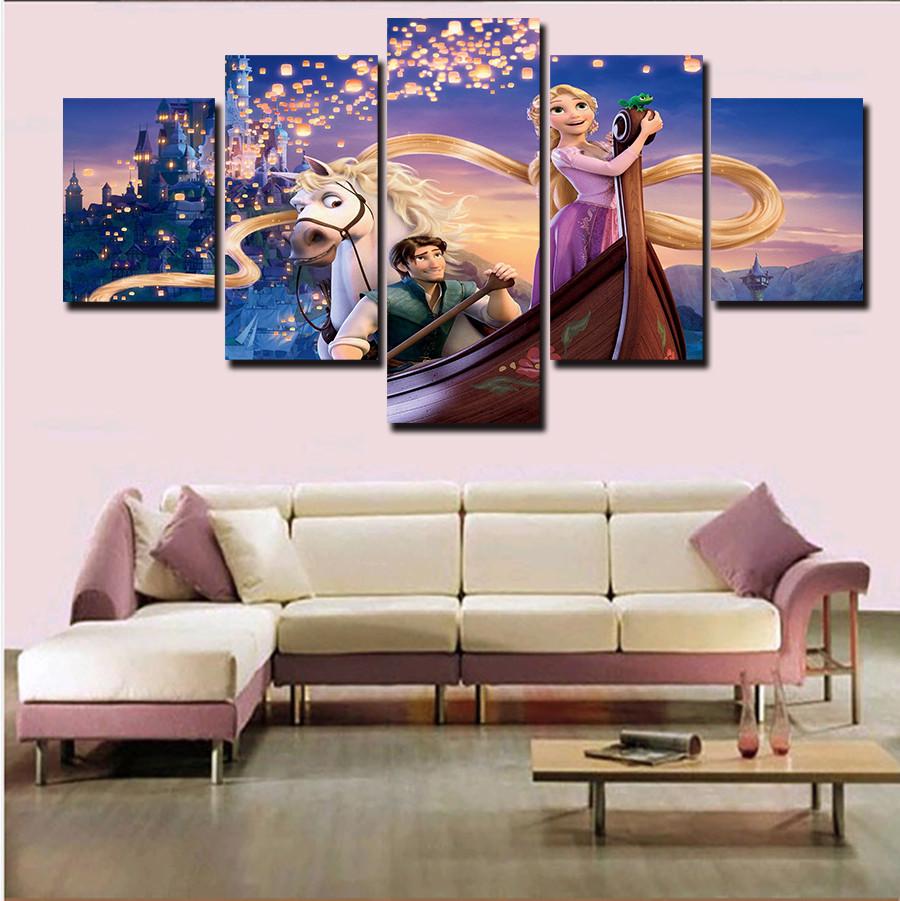 5 Pieces unframed Printed Decoration Tangled Rapunzel Flynn Poster ...