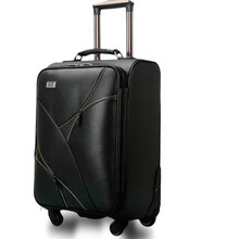 Women Travel Suitcase Vintage Luggage&Men PU Leather Travel Bag Universal Wheels Trolley Luggage 18″ 20″ 22″ 24″ Rolling Luggage