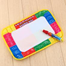 Free shipping XC8866 29X19cm 4 color Mini Water Drawing Mat Aquadoodle Mat 1 Magic Pen board/baby play  Paint learning Notebook