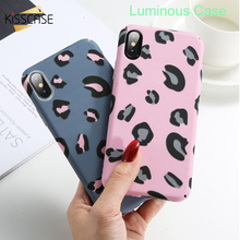 KISSCASE Matte Luminous Leopard Case For Samsung A50 A30 A70 S10 5G Shockproof Back Cover For Samsung J7 2017 Case A9 2018 Capa