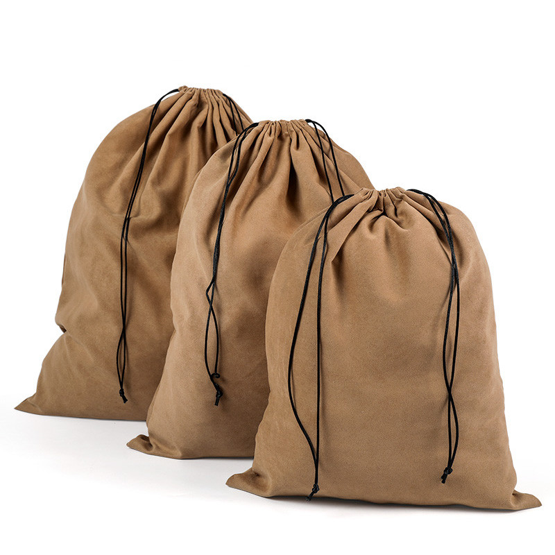 Suede Travel Drawstring Tote Bag Organizer Bag For Underwear Toy Handbag