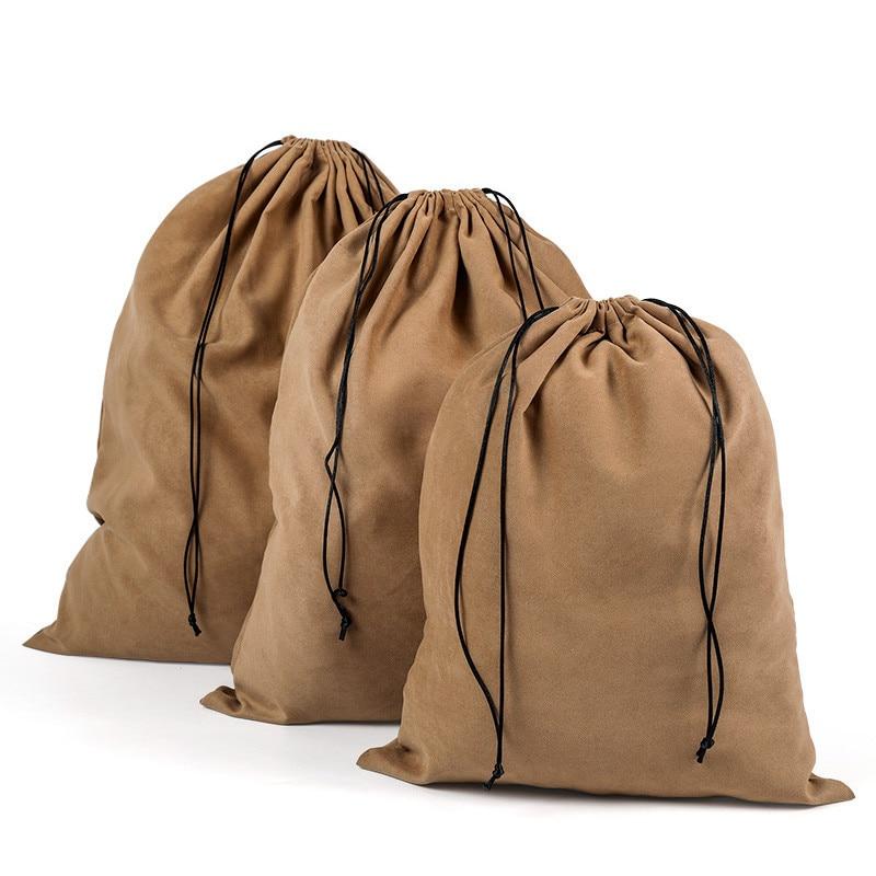 Suede Travel Drawstring Tote Bag Organizer Bag For Underwear Toy Handbag