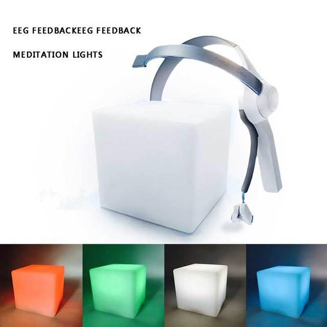 Шлем Медитации бортовые огни беспроводной ЭЭГ оборудования mindwave мозг кубических внимание наблюдения обучения Медитации