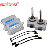 SKYJOYCE 55W D8S hid kit headlight bulb lamp 5500K replacement with 55W hid ballast set upgrade brightness 4600LM car styling