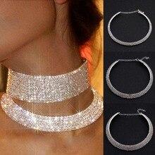 2017 Women Charming Crystal Rhinestone Necklace Bride Collar Choker Wedding Party Jewelry